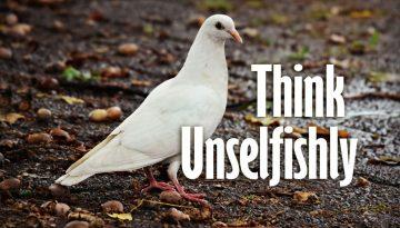 unselfishly